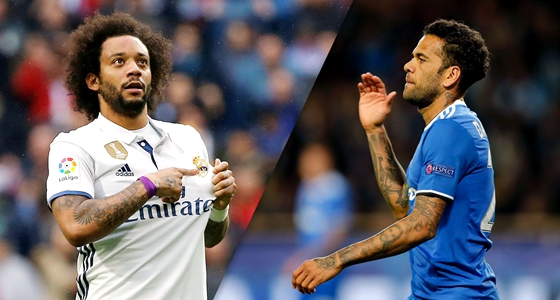 欧冠专栏:丹尼遇上马塞洛,巴西边位大决战